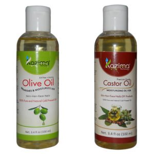 olive oil and castor oil hair treatment